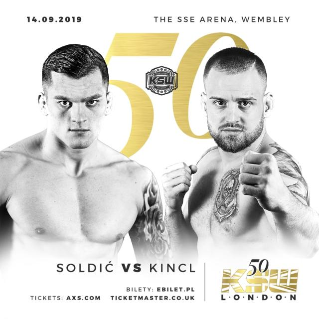 KSW 50 Roberto Soldic vs Patrik Kincl poster