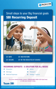 SBI Recurring Deposit - interest Rate & Maturity Value