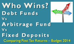 Debt Funds Vs Arbitrage Fund Vs  Fixed Deposits
