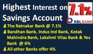 Highest Interest on Saving Bank Account
