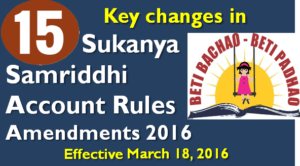 changes in Sukanya Samriddhi Account Rules Amendments 2016