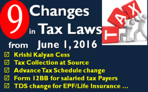 Changes in Tax Laws in June 2016