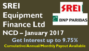 SREI Equipment Finance NCD - Jan 2017 - Should you Invest