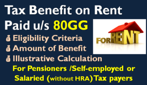 Section 80GG - Tax Benefit on Rent Paid
