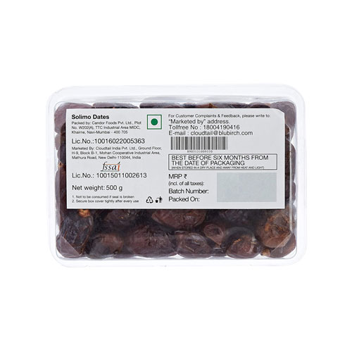Solimo Brand Dates 500g
