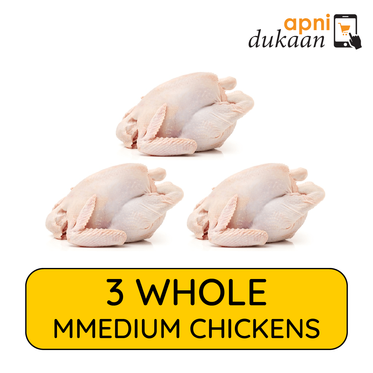 3 Whole Chickens Medium – Special