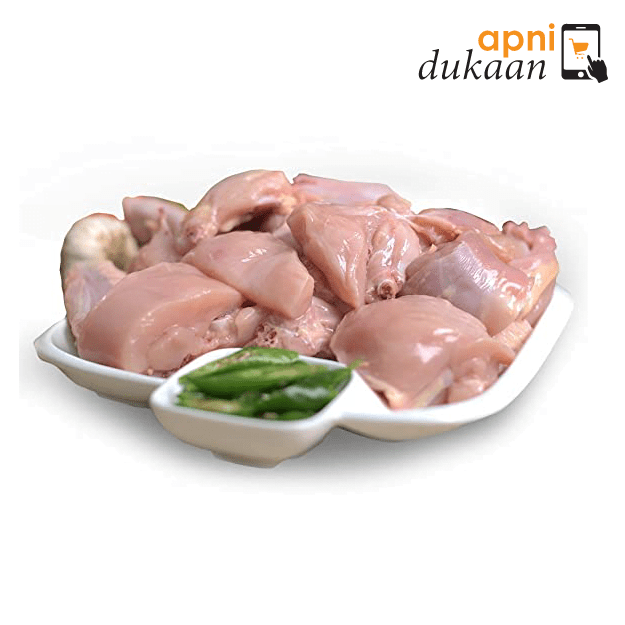 Hand Slaughtered Chicken Size 9 – Cut to Curry Pieces Skin Off