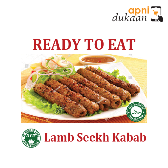 AGF Lamb Seekh Kabab 1 Pack – Ready To Eat