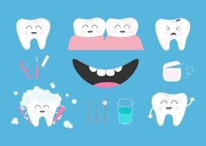 Mundhygiene - Zähne pflegen