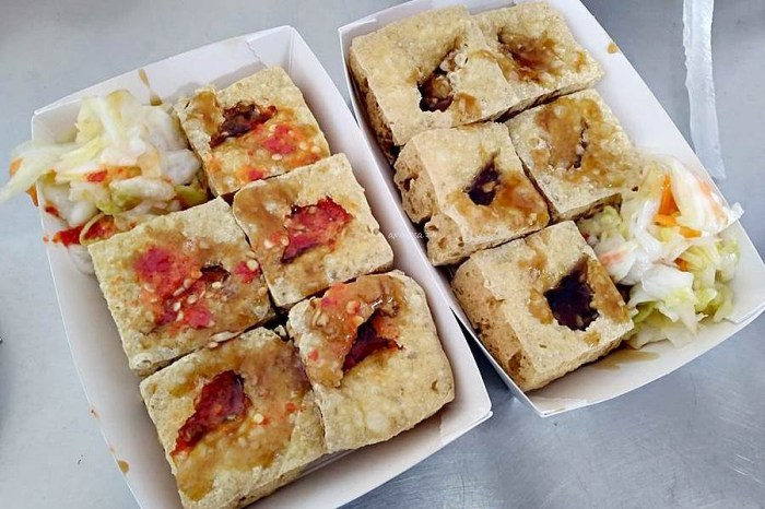 原太原火車站臭豆腐|豬血湯免費喝,外酥內嫩多汁又臭香,全新整理更寬敞,老饕必推素食可,太原臭豆腐