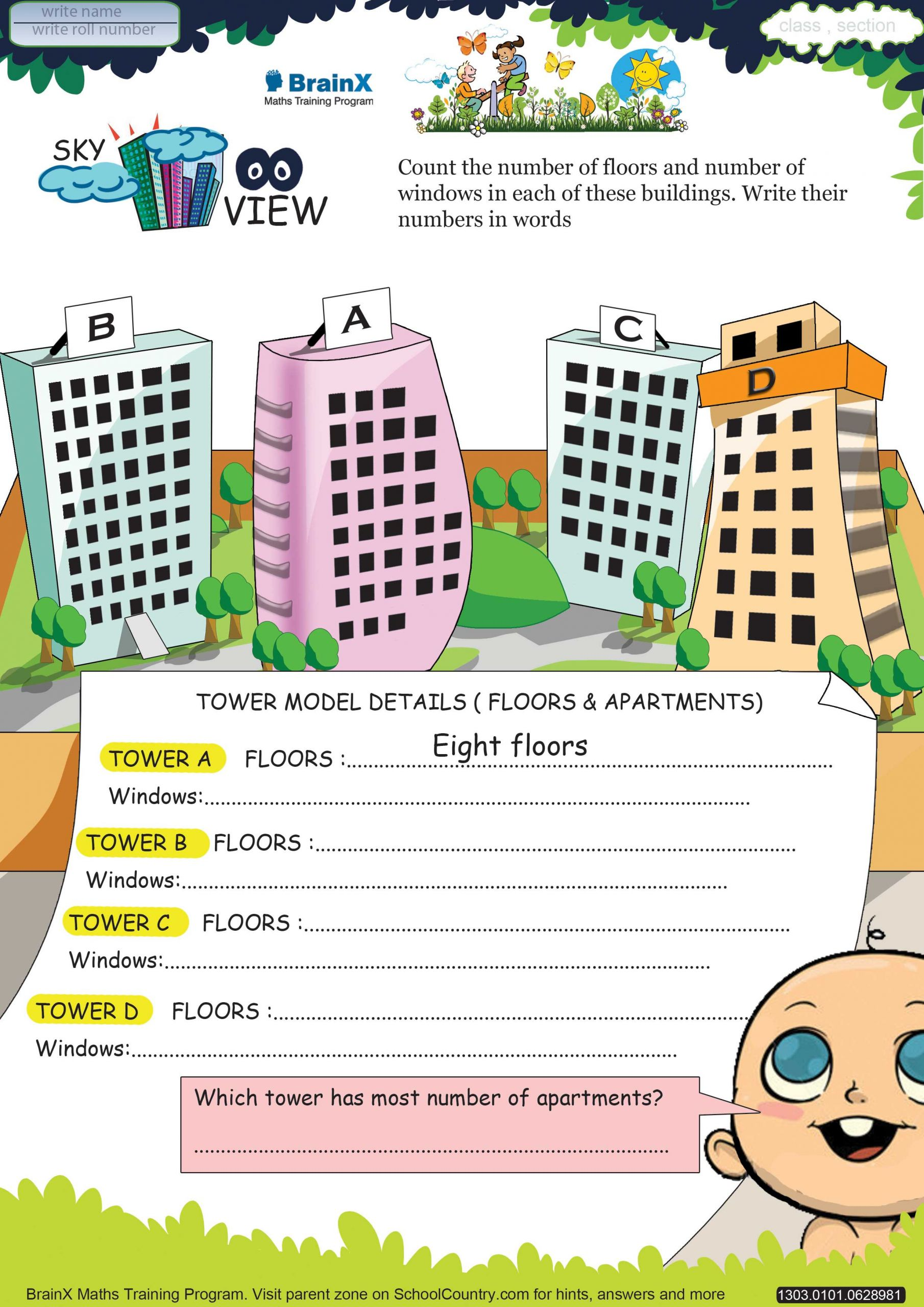 3 Free Math Worksheets First Grade 1 Addition Add Two 2
