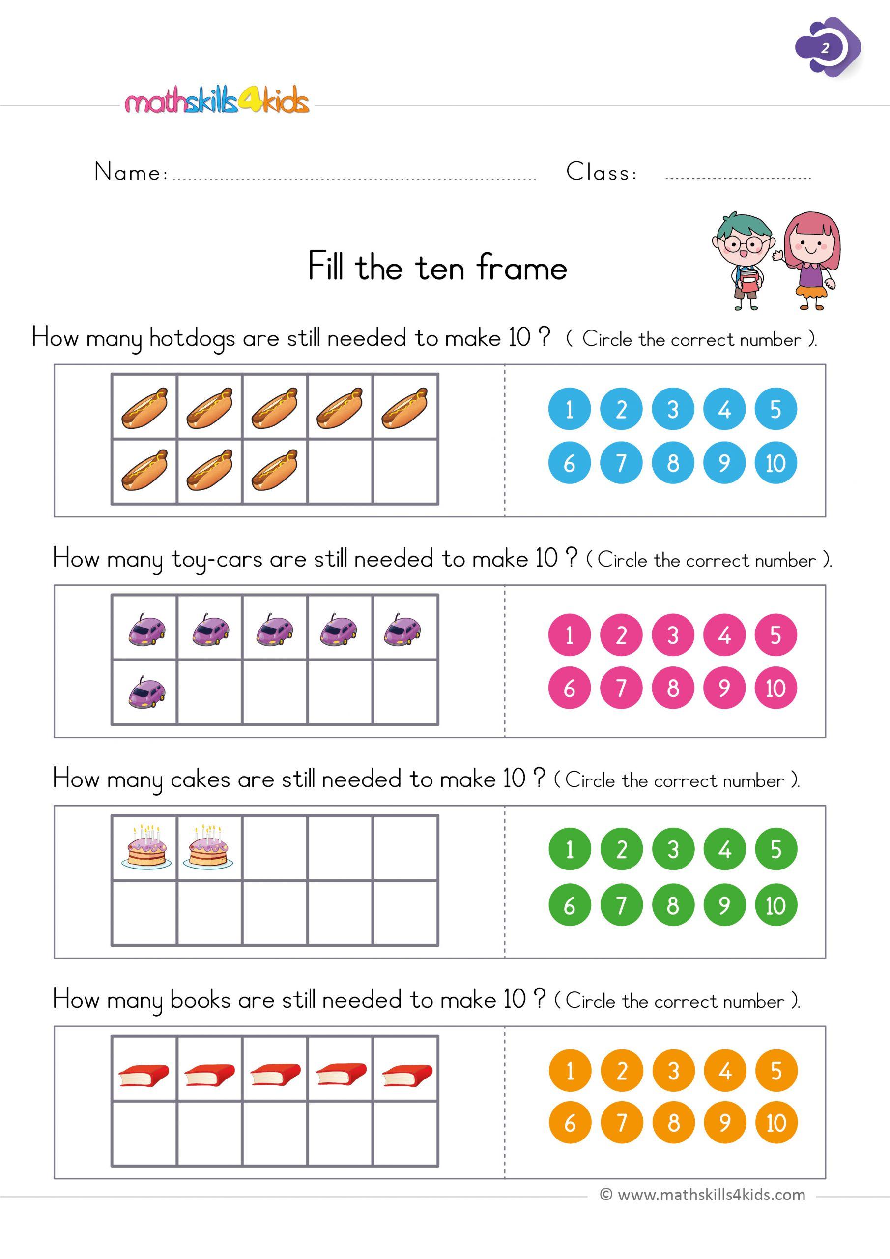 4 Free Math Worksheets First Grade 1 Addition Number Bonds