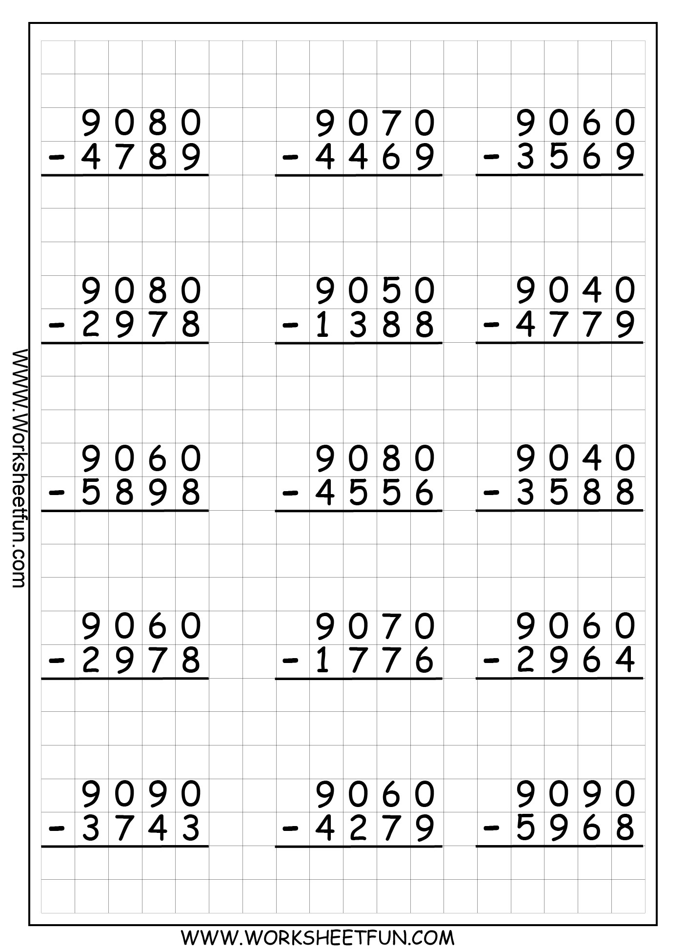 5 Free Math Worksheets First Grade 1 Subtraction