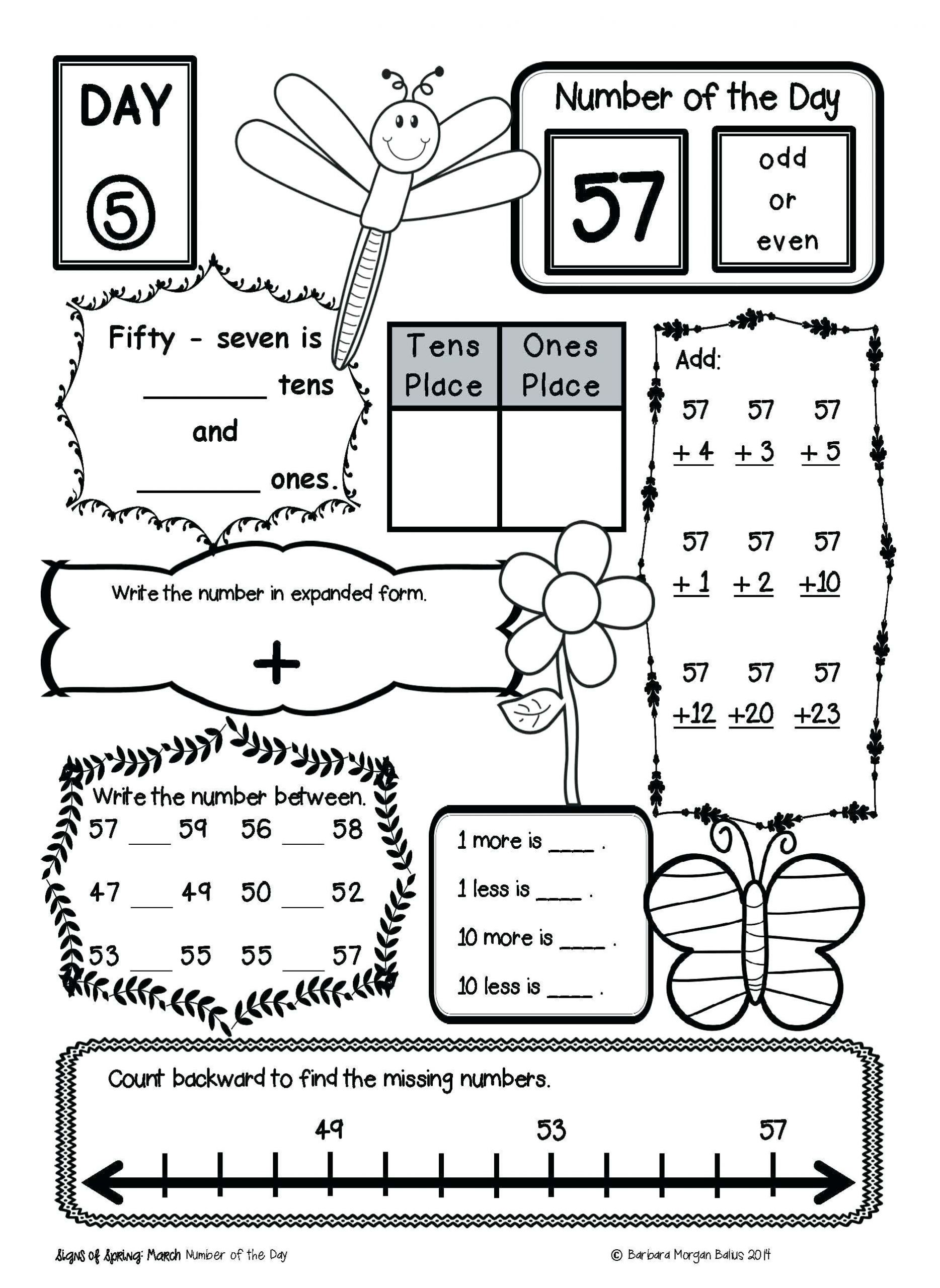 Second Grade Autumn Worksheet
