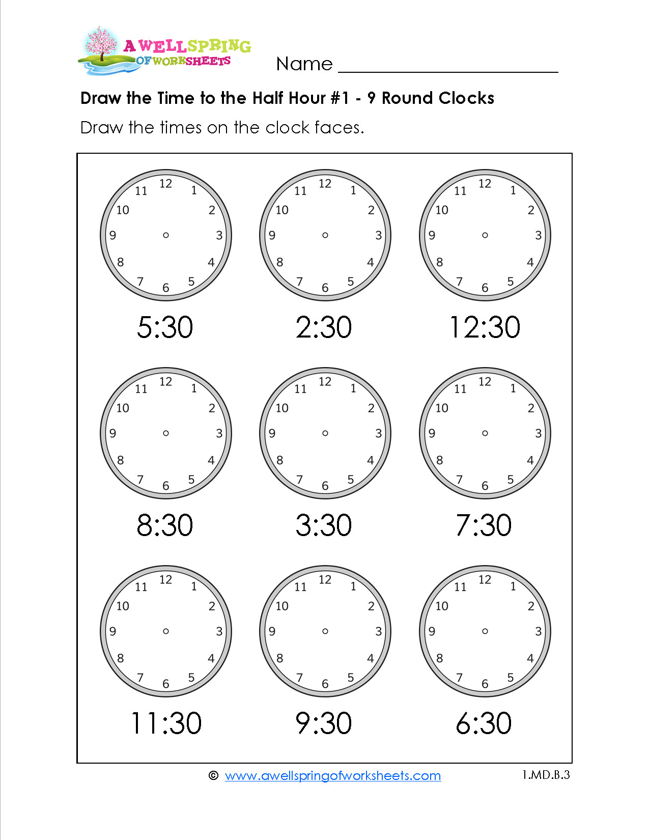 5 Free Math Worksheets Second Grade 2 Telling Time Telling