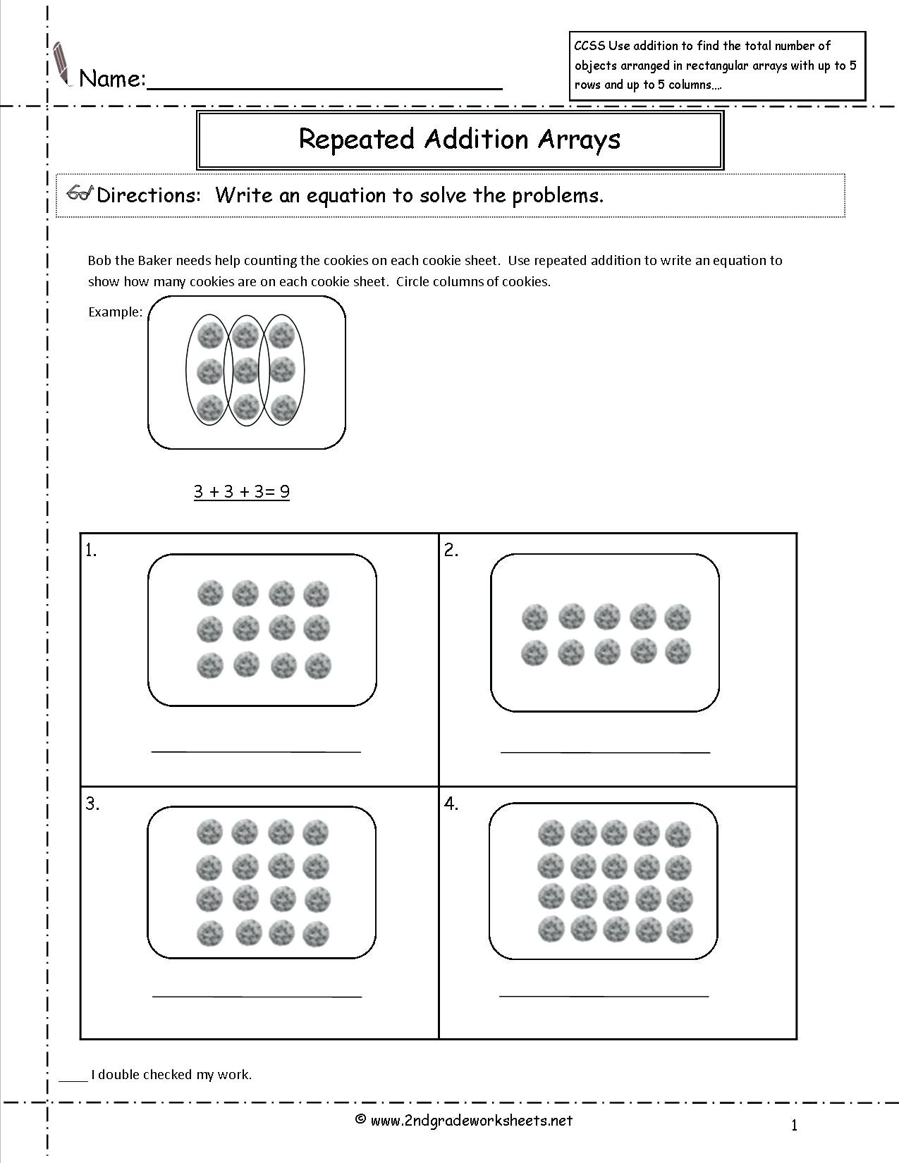 4 Free Math Worksheets Third Grade 3 Multiplication
