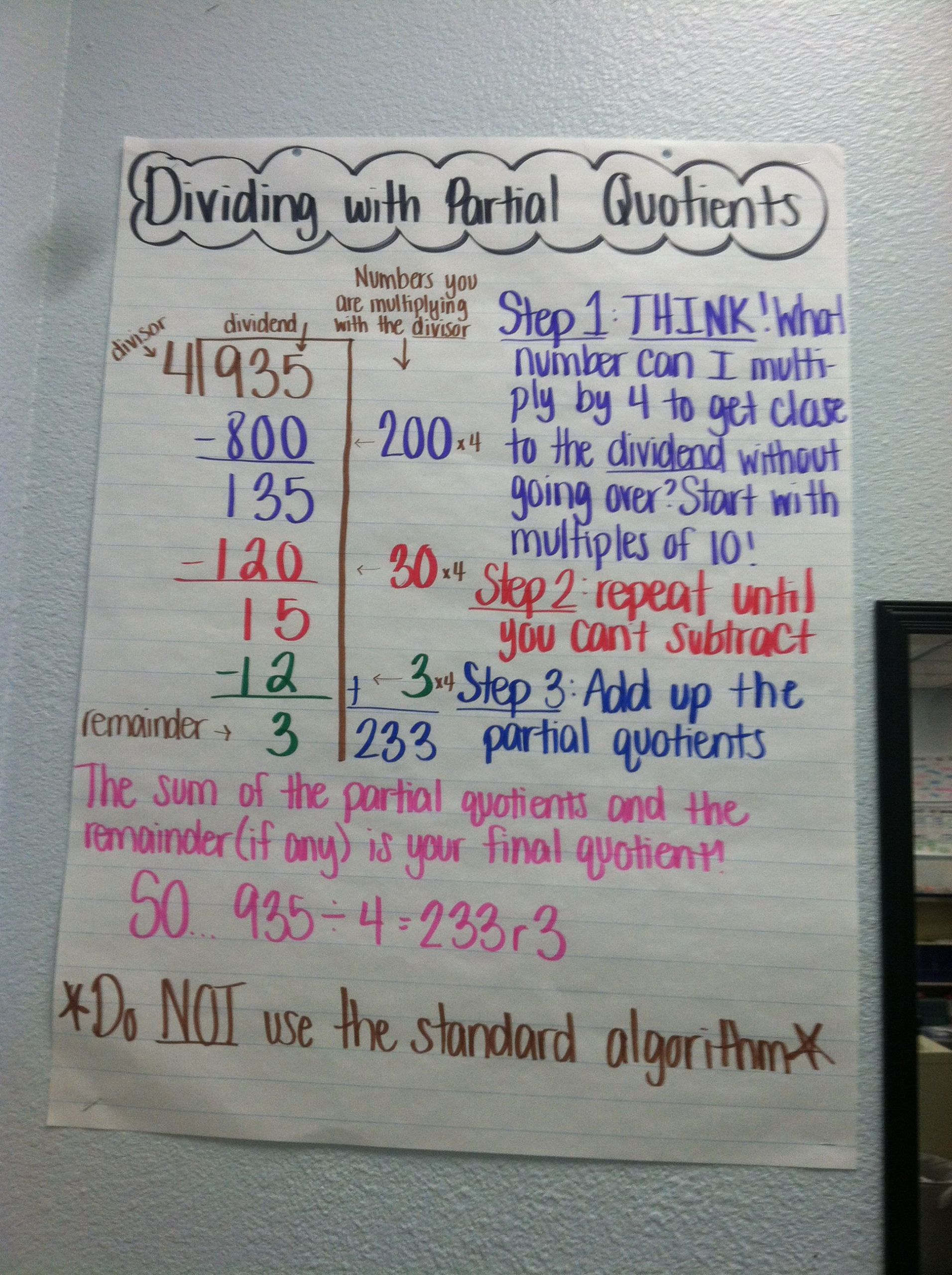 4 Free Math Worksheets Third Grade 3 Division Divide By