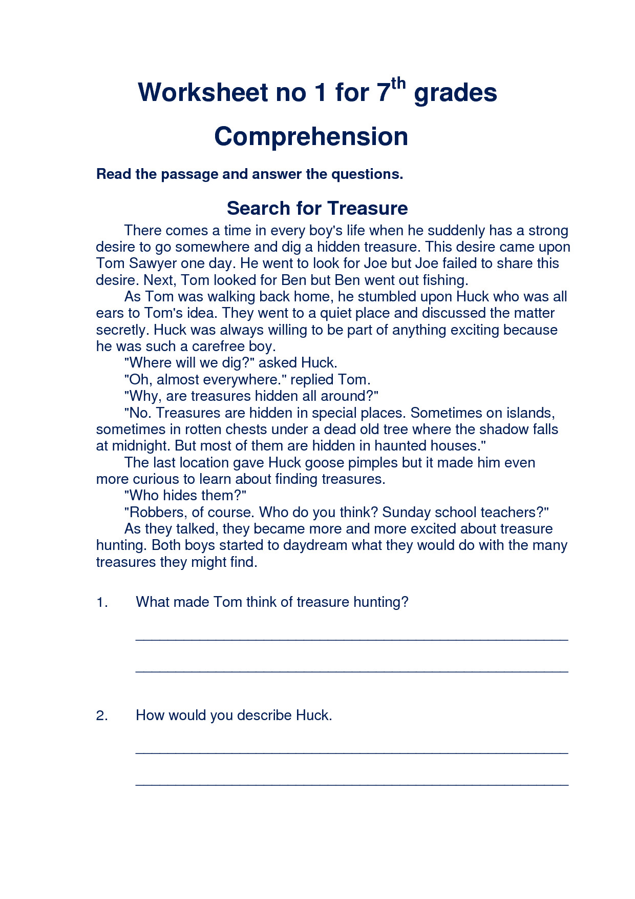 5 Reading Reading Comprehension