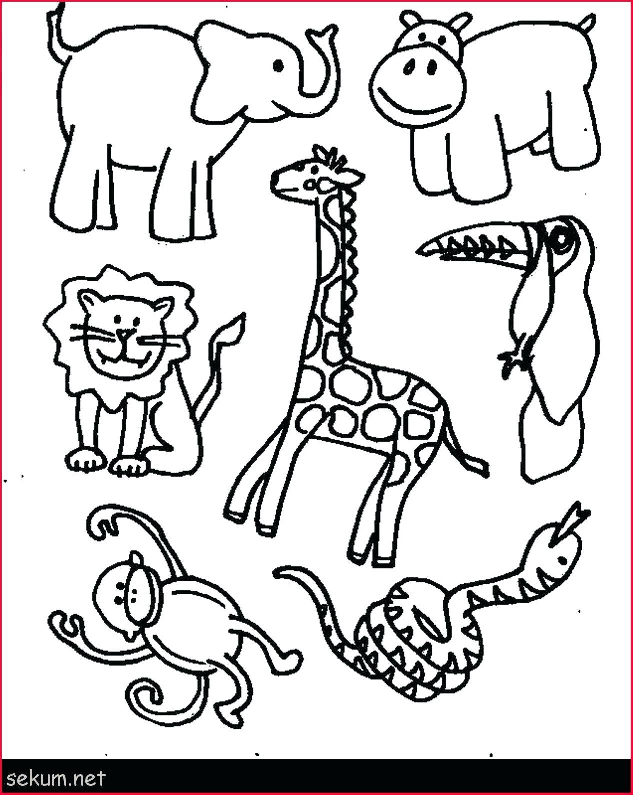 6 Animals Worksheets For Kids Domestic