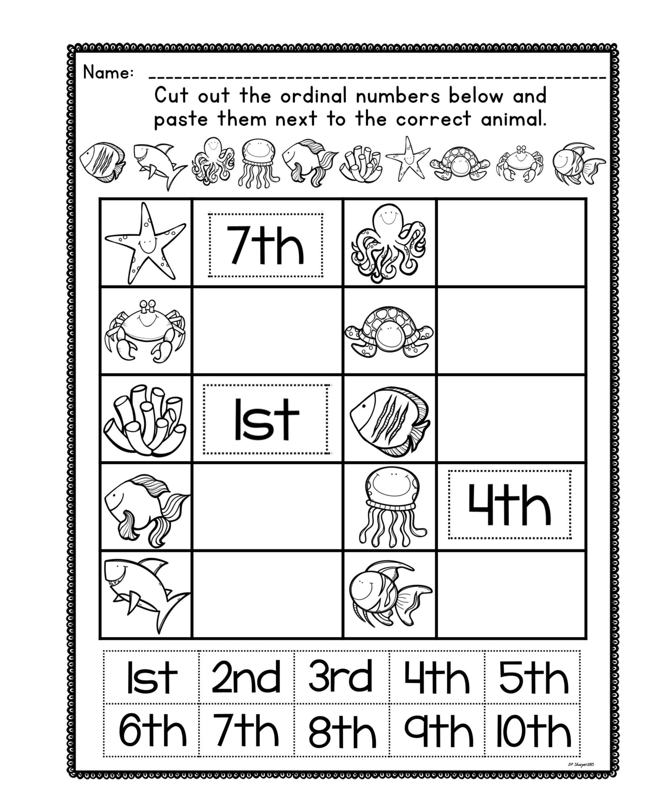 5 Animals Worksheets Kindergarten