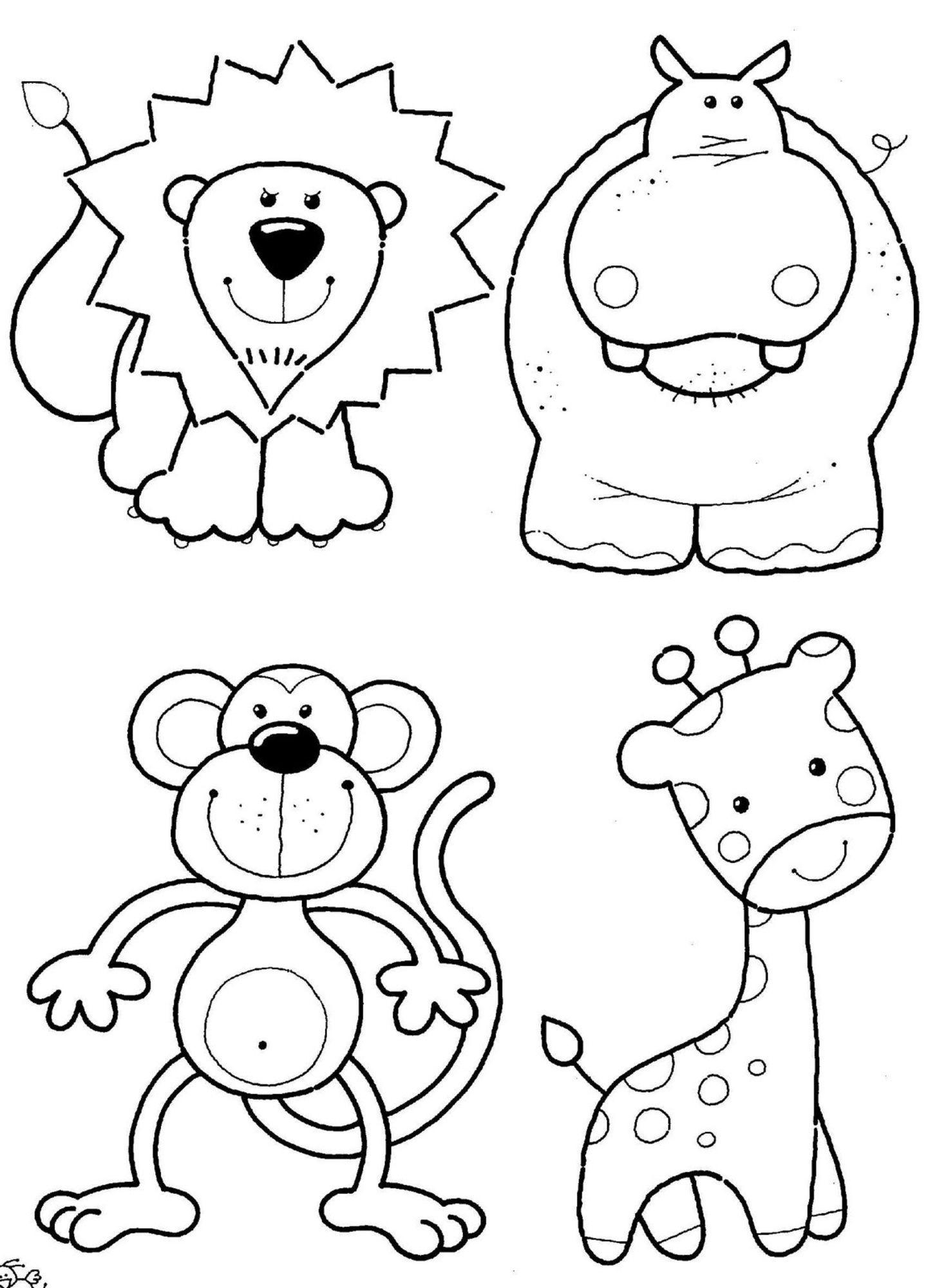 6 Farm Animals Coloring Pages Preschool