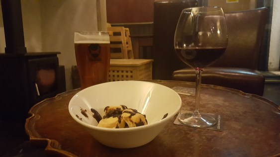 Beer, wine and profiteroles to celebrate!