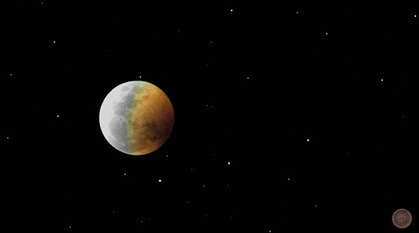 APOD 2003 May 23 Eclipsed Moon and Stars