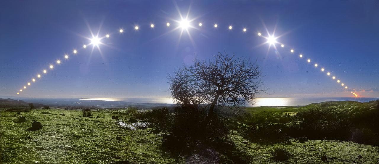 Winter Solistice sun