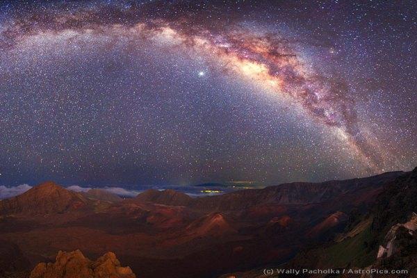 APOD: 2009 January 27 - The Milky Way Over Mauna Kea
