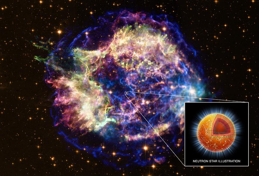 कैस्सीओपेइआ ए (कैस्स ए) सुपरनोवा अवशेष