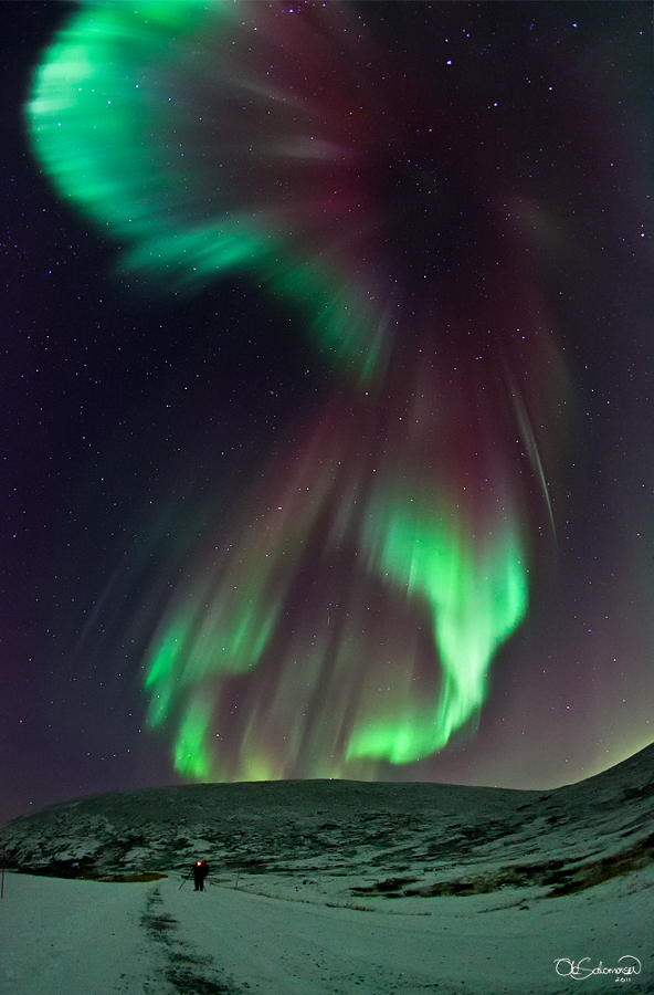 Une aurore magnifique (red & green aurora)