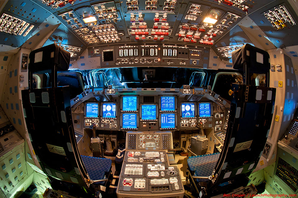 The Flight Deck of Space Shuttle Endeavour; Image Credit & Copyright: Ben Cooper (Launch Photography), Spaceflight Now