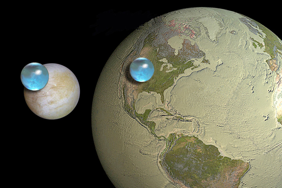 All the Water on Europa, all the Water on Earth