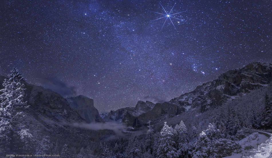 Starry Winter Night in Yosemite Valey
