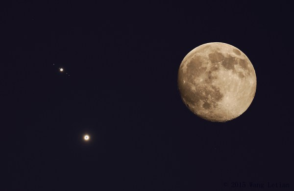 N is for Nebula — Highlights in Astronomy — Jupiter, Venus, and the Moon