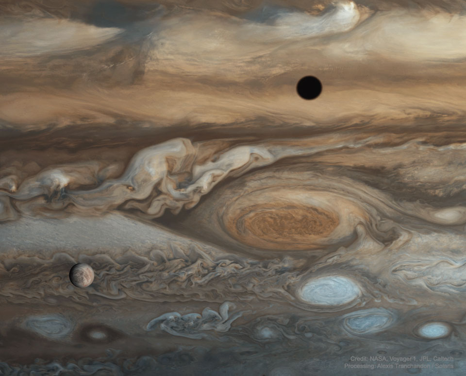 Jiant red spot and Europa