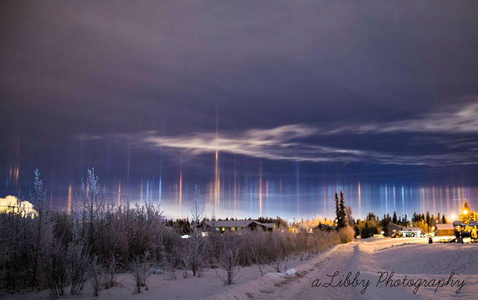 Light Pillars over Alaska #NASA – Photo Snapping