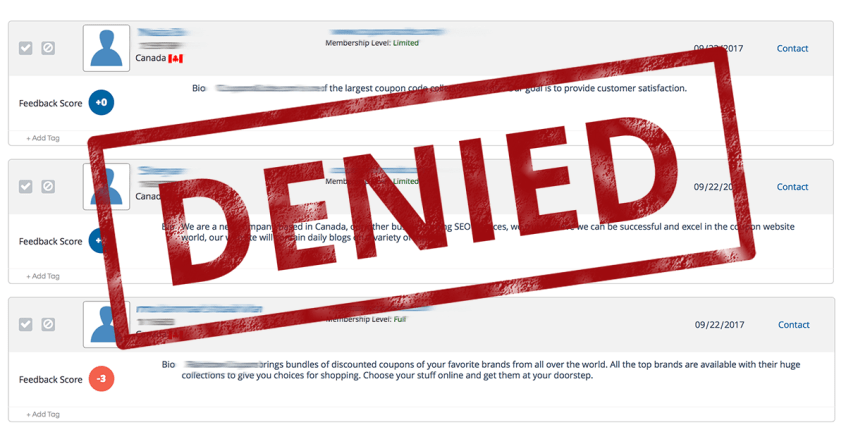 Affiliate Application Declined - Why? What Now? | Apogee