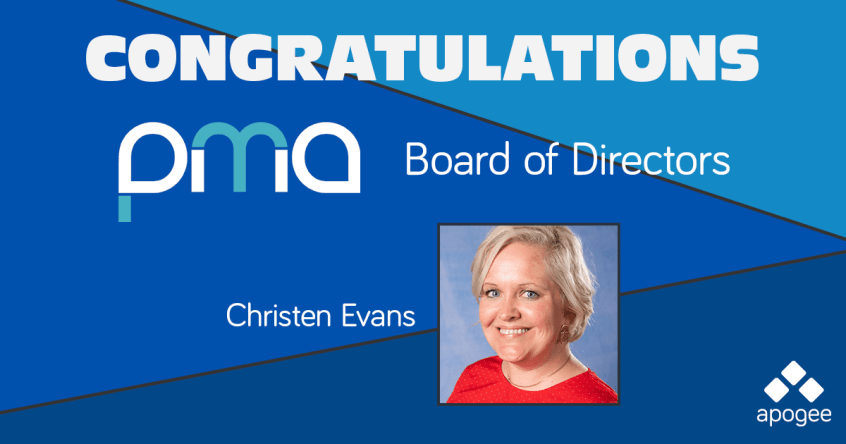 Apogee's Christen Evans was elected to the Performance Marketing Association's Board of Directors