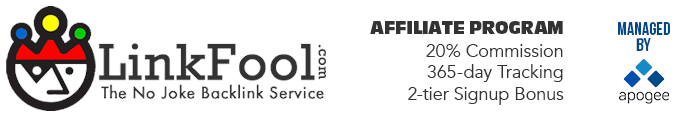 LinkFool Affiliate Program - Managed by Apogee