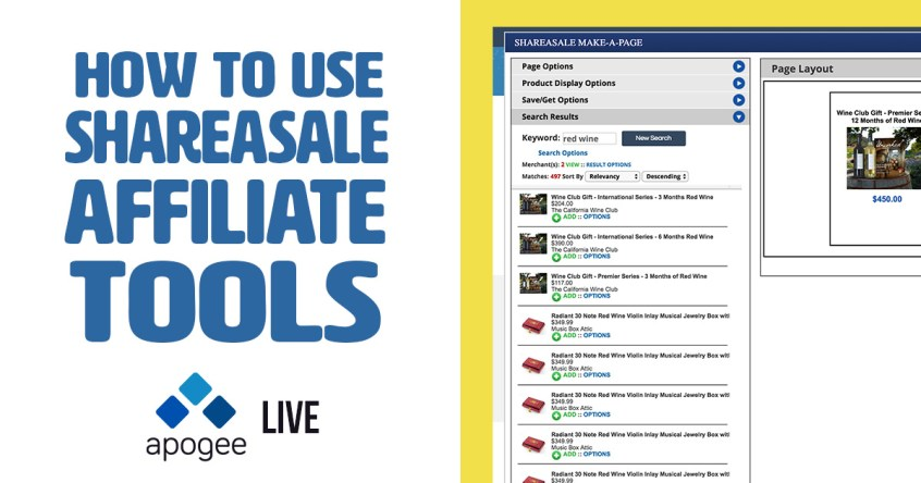 ShareASale Affiliate Tools - Apogee Live