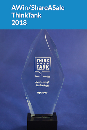 Best Use of Technology, ShareASale ThinkTank Award 2018 | Apogee