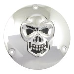 CHR SKULL DERBY COVER 5-HOLE | 99-17 Dyna; 99-18 Softail (excl. 2018 FLSB); 99-15 Touring, Trike (excl. 2015 FLHTCUL, FLHTKL) (NU)
