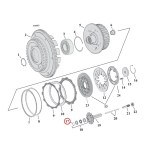 RET.RING,CL.THROW-OUT BEARING   18-20 Softail; L75-17(NU)B.T. (excl. 15-17 B.T. with Slip & Assist clutch; 2017 M8 Touring)