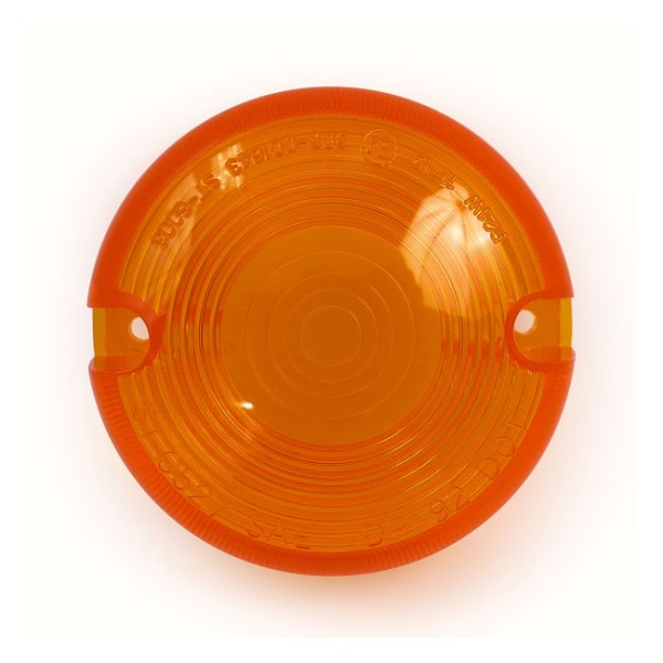 TURN SIGNAL LENS, DOMED LENS | Pre-2001 H-D with domed lens turn signals