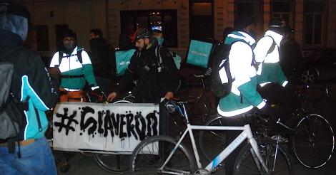 Deliveroo-koeriers protesteren tegen gedwongen freelance statuut