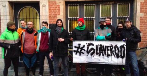 Internationale steun voor Brusselse Deliveroo-koeriers!
