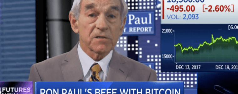 """Ron Paul: """"Cryptocurrency is a reflection of the disaster of the monetary dollar system"""" (Video)"""