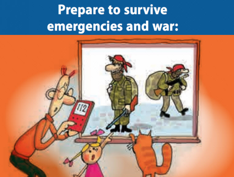 Estonia To Issue 'How To Prepare For War' Leaflets To 1.3 Million Citizens
