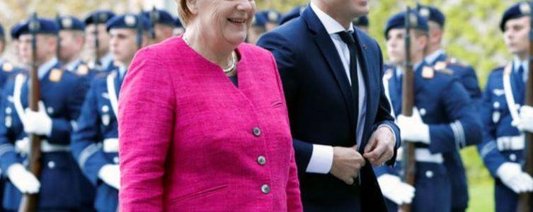 Merkel Backs Macron's European Army Initiative